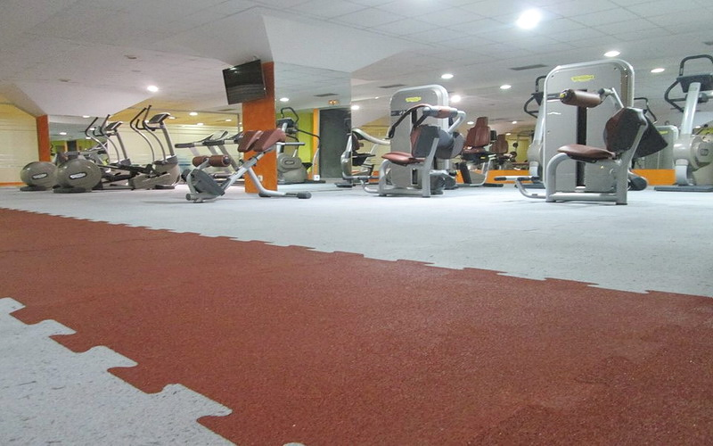 Rubber flooring for gyms (fitness)